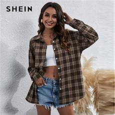 blouse, plaid, Shirt, Sleeve