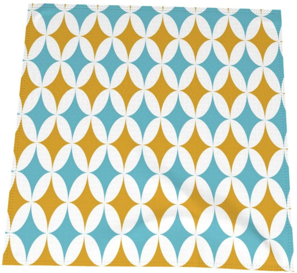 Turquoise, DIAMOND, dinnerclothnapkin, napkincloth