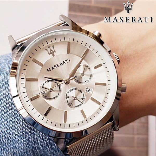 maserati, steel watch, Watch, Stainless Steel