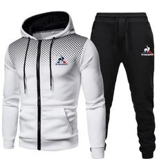 hooded, Fitness, Jacket, Long pants