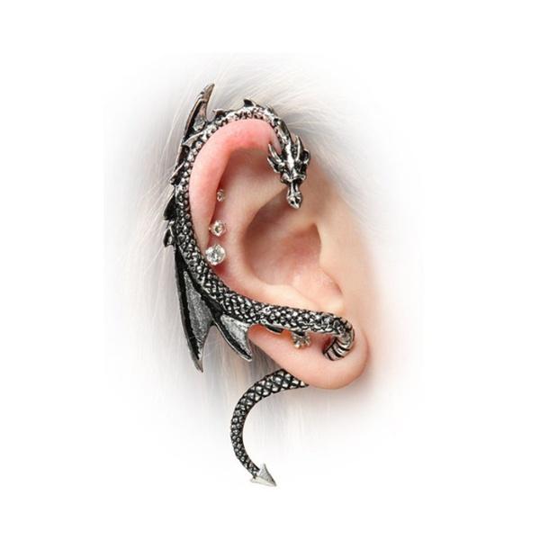 nopiercedear, punk earring, hiphopearring, Men
