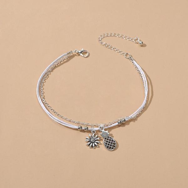 adjustableanklet, Flowers, simpleanklet, ankletsfootjewelry