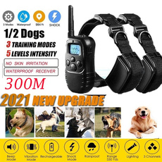 chien, Collar, rechargeablevibrator, trainingcollarfordog