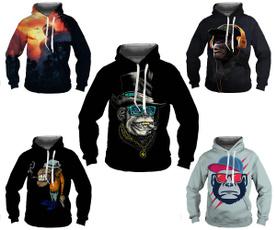 monkey, 3D hoodies, Fashion, fashionmenswear