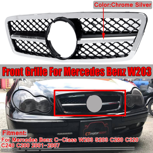 Grill, carfrontgrill, Mercedes, mercedesw203grill