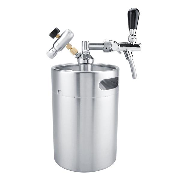 Steel, Mini, Faucets, stainlesssteelbeerbarrel