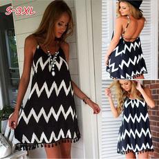 Summer, long skirt, Lace Dress, Halter