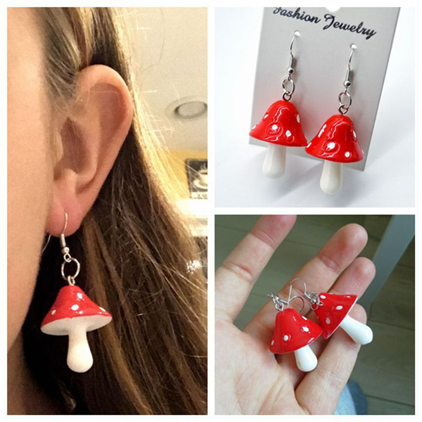 Fashion, Jewelry, Mushroom, diycharmpendantset