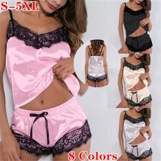 sleeveless, nightwear, Shorts, Lace
