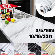 marblewallpaper, Bathroom, selfadhesivewallpaper, Waterproof