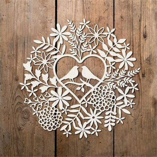 Heart, Decor, Flowers, leaf