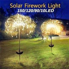 solarpoweredgardenlight, Outdoor, fireworklight, Garden