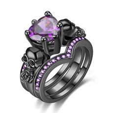 Heart, Goth, Set, Jewelry