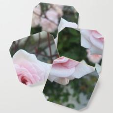 Coasters, Mats, Wooden, Rose