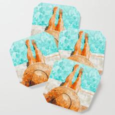 Summer, Fashion, Coasters, Mats