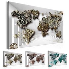 Map, art, Home Decor, worldmap