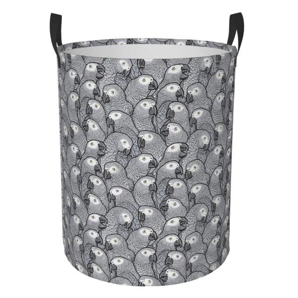 Baskets, Laundry, collapsiblecircularhamper, Grey