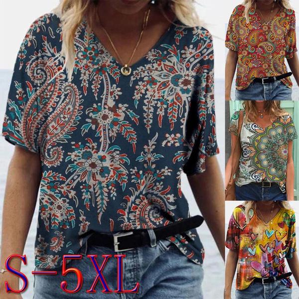 blouse, Plus size top, fashionprint, Sleeve
