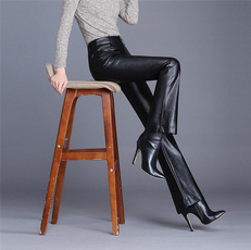 trousers, high waist, Casual pants, classicslimtrouser