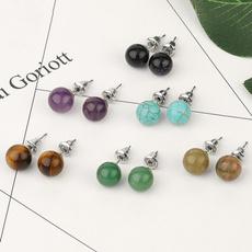 8MM, ballstudearring, Fashion, Jewelry