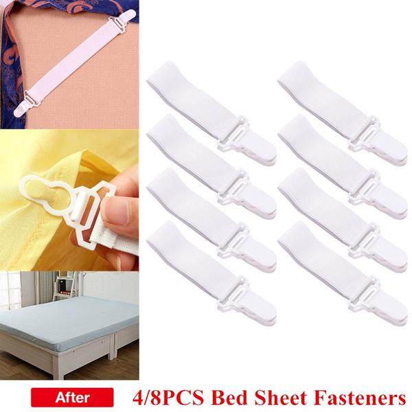 bedsheetfastener, Adjustable, sheetholderclip, Elastic