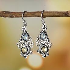 Cubic Zirconia, Blues, Dangle Earring, Jewelry
