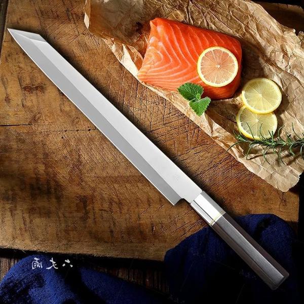Stainless Steel, yanagibaknife, fish, Sushi