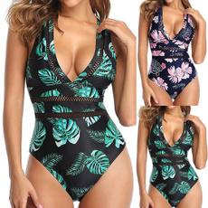 One Piece Swimsuits, Bikinis Set, leaf, women swimsuit
