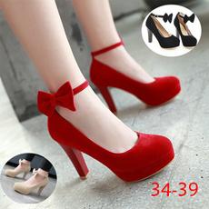 thickheel, gule, Womens Shoes, Spring