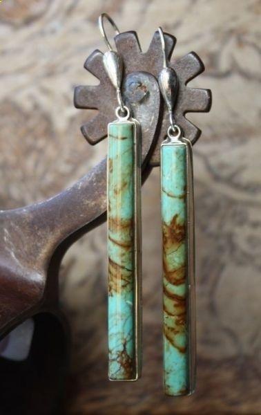 Sterling, Women, Turquoise, Gemstone Earrings