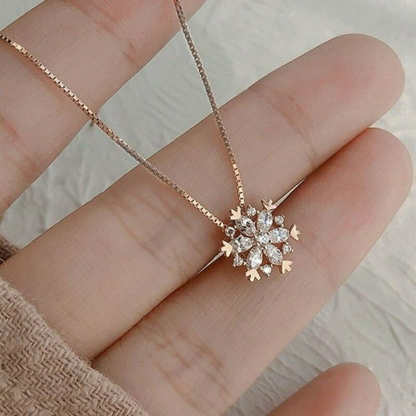 Sterling, DIAMOND, 925 sterling silver, snowflakenecklace