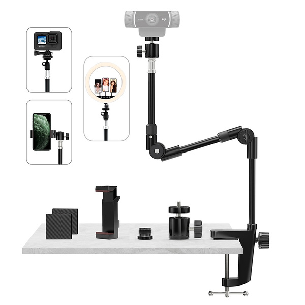 Webcams, deskwebcamstand, projector, ringlightstand
