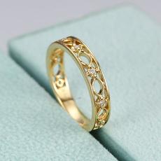 party, DIAMOND, Women Ring, gold