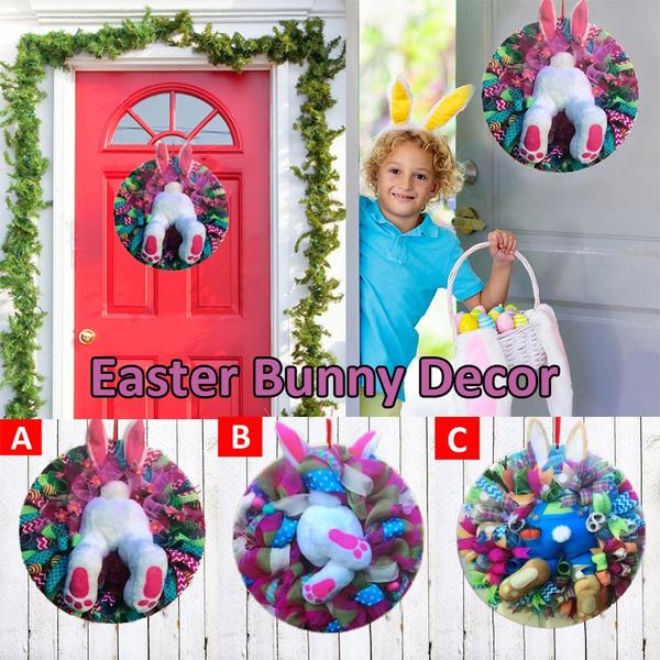 easterdecoration, cute, bunnybutt, Door