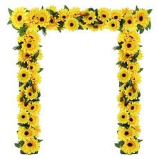 Flowers, Garden, Sunflowers, sunflowergarland