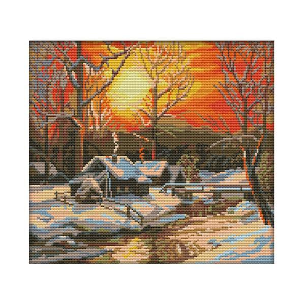 Winter, printedcrossstitchkit, crossstitchkits11ct, Cross