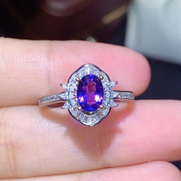 silvergemstonering, Jewelry, Gifts, realamethystring