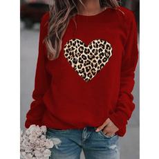 Fleece, Plus Size, Necks, leopard print