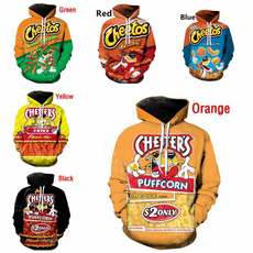 3D hoodies, Snacks, Unique Hoodie, funnyclothe