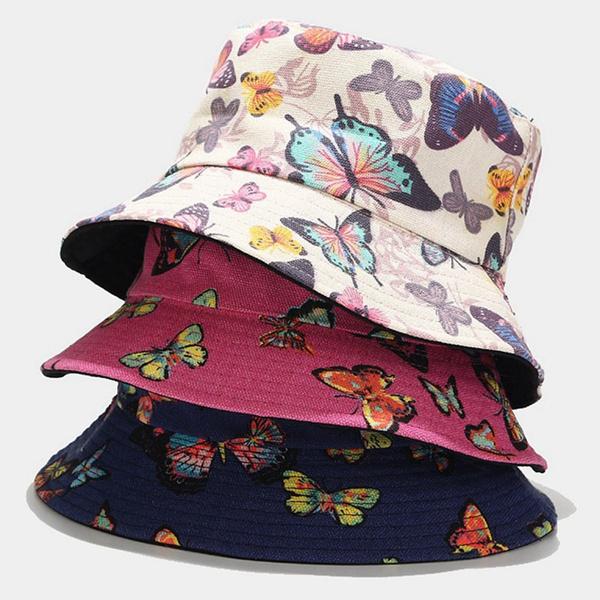 butterfly, Fashion, fishermanbuckethat, womenbuckethat