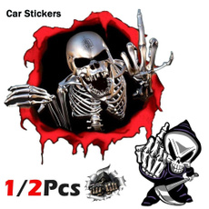 Car Sticker, horrificskeleton, skullsticker, Skeleton