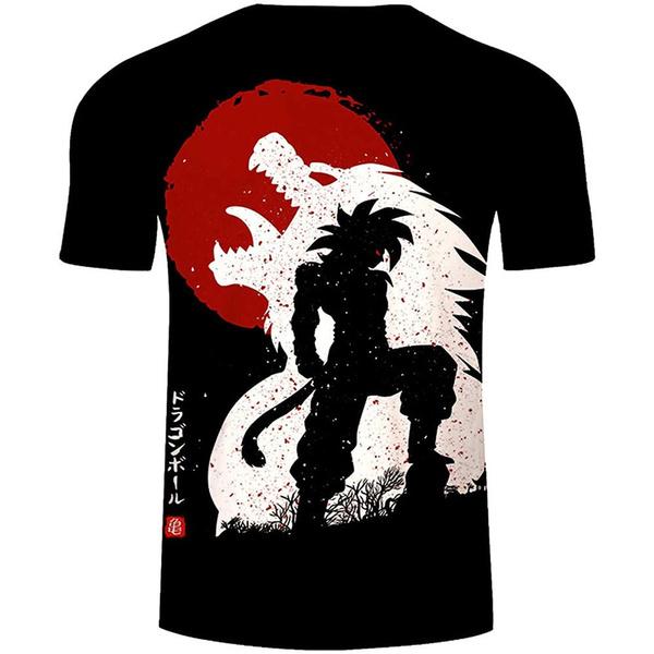mensummertshirt, Dragonball, plussizetshirt, gymtshirtmen
