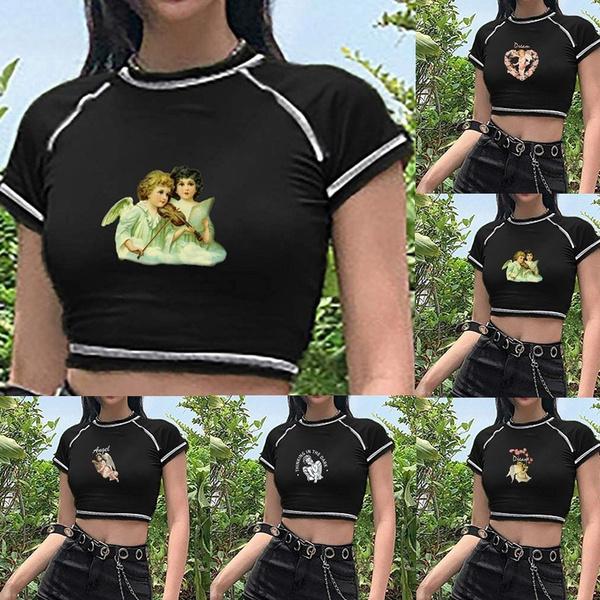 Summer, Funny T Shirt, crop top, women crop top