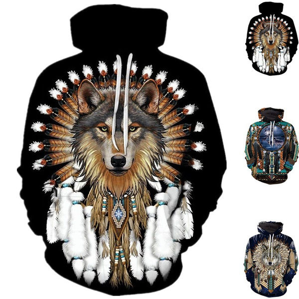 hooded sweater, sports hoodies, Sweaters, indianwolf