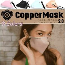 Copper, Sport, dustmask, antibacterialmask