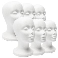 foamstyrofoam, wig, foammannequinhead, Fashion