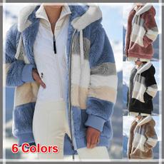 Casual Jackets, Plus Size, fur, Зима