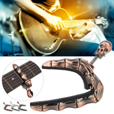 guitarukulele, Adjustable, guitarcapoclip, skull