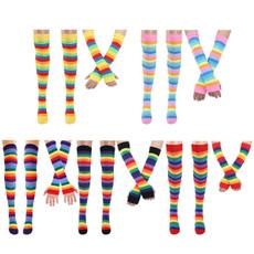 rainbowstripesglove, rainbow, womengirlsock, thighhighstocking