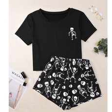 cute, nightwear, Shorts, skull
